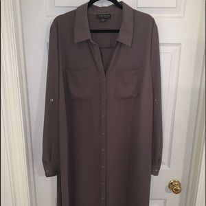 Forever 21 Plus NWOT Long Buttoned Down Tunic
